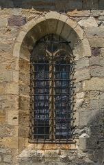 Eglise - English: Window of the Saint Vincent Church of Palmas, Aveyron, France