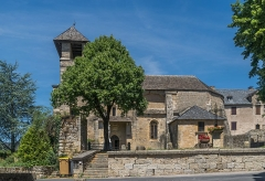 Eglise - English: Saint Vincent Church of Palmas, Aveyron, France