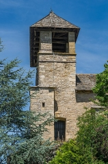 Eglise - English: Bell tower of the Saint Vincent Church of Palmas, Aveyron, France