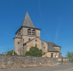 Eglise de Lagnac - English: Church in Lagnac, Rodelle, Aveyron, France