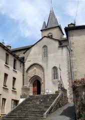 Eglise - Salles-Curan - Église Saint-Géraud - Escalier et entrée de l'église