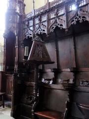 Eglise - Salles-Curan - Église Saint-Géraud - Détail des stalles