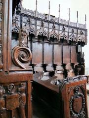 Eglise - Salles-Curan - Église Saint-Géraud - Stalles de la collégiale