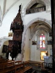 Eglise - Salles-Curan - Église Saint-Géraud - Chapelle et chaire