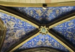 Eglise - Salles-Curan - Église Saint-Géraud - Chapelle: décoration de la voûte
