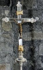 Eglise Notre-Dame - Français:   Thérondels - Église Notre-Dame - Croix de procession