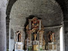 Eglise Notre-Dame - Français:   Thérondels - Église Notre-Dame - Choeur et abside: maître autel