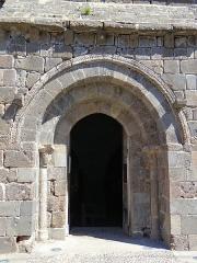 Eglise Notre-Dame - Français:   Thérondels - Église Notre-Dame - Portail sculpté