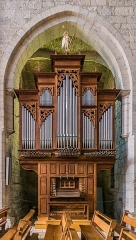 Eglise du Saint-Sépulcre - English: Organ in the church of the Holy Sepulchre of Villeneuve, Aveyron, France