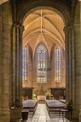 Eglise du Saint-Sépulcre - English: Interior of the church of the Holy Sepulchre of Villeneuve, Aveyron, France