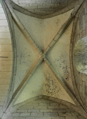 Eglise du Saint-Sépulcre - English: Vaulting in the church of the Holy Sepulchre of Villeneuve, Aveyron, France