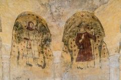 Eglise du Saint-Sépulcre - English: Frescos in the church of the Holy Sepulchre of Villeneuve, Aveyron, France