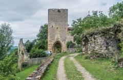 Ancienne porte de Ville, dite Porte de la Barbacane - English: Porte de la Barbacane in Peyrusse-le-Roc, Aveyron, France