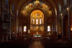 Eglise Notre-Dame-de-l'Assomption -  Painted decor of the choir and apse: