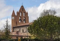 Eglise - English:  Church St. Peter in Bazus,  Haute-Garonne, France. Bell gable.