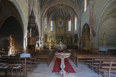 Eglise Saint-Bernard - English:  Bourg-Saint-Bernard, Haute-Garonne, France. St Bernard church, interior.