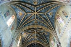 Eglise Saint-Bernard - English:  Bourg-Saint-Bernard, Haute-Garonne, France. St Bernard church, ceiling of the nave by Gaétan Ceroni.