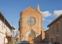 Eglise - English:  The St. Bartholomew's Church Daux, Haute-Garonne France - facade