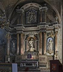 Eglise Notre-Dame de l'Assomption - English:  Grenade, Haute-Garonne, France. Altarpiece of the main altar of the church Église Notre-Dame de l'Assomption, eighteenth century.