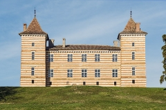 Château de Laréole - English:  Castle of Laréole, Haute-Garonne, France. South-west facade