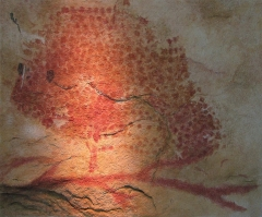 Grotte - English: A painting of a bison from the Marsoulas cave, France. Magdalenian. Replica in the Brno museum Anthropos.