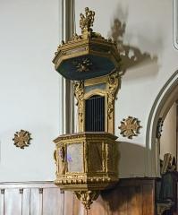 Eglise - English:  Church of Mary Magdalene of Pibrac,  Haute-Garonne France – Pulpit