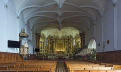 Eglise - English:  Church of Mary Magdalene of Pibrac,  Haute-Garonne France – Interior