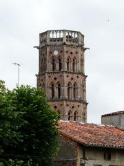 Ancienne cathédrale Sainte-Marie - Le clocher de l'ancienne cathédrale de Rieux, Haute-Garonne, France.