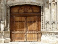 Ancienne cathédrale Sainte-Marie - Les vantaux du portail sud de l'ancienne cathédrale de Rieux, Haute-Garonne, France.