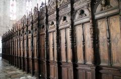 Ancienne cathédrale Notre-Dame - Deutsch: Chorschranke, Notre-Dame de Saint-Bertrand-de-Comminges