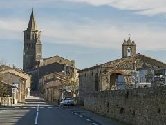 Eglise Saint-Félix - English:  Saint-Félix-Lauragais. The road to Toulouse, the Saint-Roch Chapel and St Felix Church.