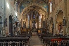 Eglise Saint-Félix - English:  Church Saint-Félix of Saint-Félix-Lauragais. View of the nave and choir.