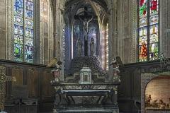 Eglise Saint-Félix - English:  Church Saint-Félix of Saint-Félix-Lauragais. The high altar by Etienne Rossat marbrier 1748.