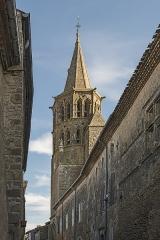 Eglise Saint-Félix - English:  Saint-Félix-Lauragais. St Felix Church: Bell tower.