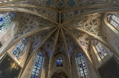 Eglise Saint-Félix - English:  Church Saint-Félix of Saint-Félix-Lauragais. The choir ceiling.