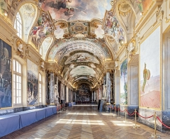 Hôtel de ville appelé Le Capitole - English:  Hall of Illustrious from the north wall.