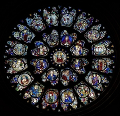Cathédrale Saint-Etienne - English:  Toulouse Cathedral -  Rose window.