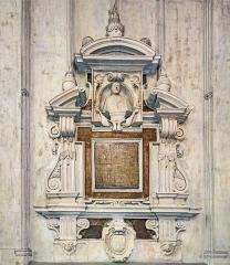 Cathédrale Saint-Etienne - English:  Stele of Henri de Sponde Cathedral Saint-Etienne Toulouse.