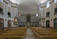 Ancienne chapelle des Pénitents Bleus, actuellement église Saint-Jérôme - English:  Church Saint-Jérôme from Toulouse, The nave and choir.