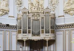 Ancienne chapelle des Pénitents Bleus, actuellement église Saint-Jérôme - English:  Church Saint-Jérôme from Toulouse. Choir organ case.