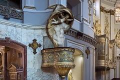 Ancienne chapelle des Pénitents Bleus, actuellement église Saint-Jérôme - English:  Church Saint-Jérôme from Toulouse. The pulpit by Jean-Louis Ajon on a drawing by Jacques-Pascal Virebent 1805.