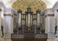 Ancienne chapelle des Pénitents Bleus, actuellement église Saint-Jérôme - English:  Church Saint-Jérôme from Toulouse. Gallery organ.