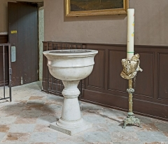 Ancienne chartreuse - English:  Church Saint-Pierre des Chartreux from Toulouse, baptismal font.