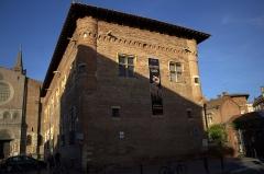 Ancien collège Saint-Raymond - Français:   Toulouse (Haute-Garonne, France): Le Musée Saint-Raymond vu depuis la rue des Trois Renards.