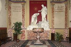 Couvent des Carmes Déchaussées - English:   Church Saint-Exupère from Toulouse, baptismal font