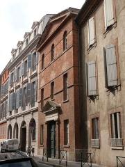Couvent de la Visitation comportant les anciens hôtels Le Mazuyer et de Béarn - English: Our-Lady-of-the-Visitation's convent of Toulouse (Haute-Garonne, Midi-Pyrénées, France).