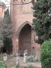 Ruines de l'église des Cordeliers -  Détail de la base du clocher