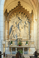 Eglise de la Dalbade - English:  Bas-relief Madonna and child,by Henri Maurette en 1891 - Église Notre-Dame de la Dalbade