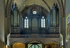 Eglise Notre-Dame-du-Taur - English:  Gallery organ, by Eugène Puget (organbuilder) 1880, Church Notre-Dame du Taur in Toulouse.