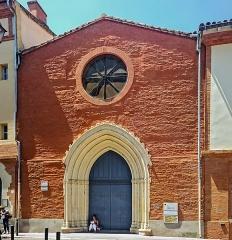 Fonderie de canons, actuellement Institut catholique - English:  Catholic University of Toulouse - Facade of Sainte-Claire du Salin Chapel on rue de la Fonderie.